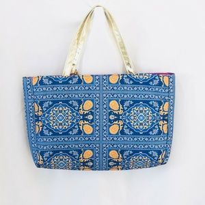 NEW DISNEY Aladdin Princess Jasmine Blue Tote Bag